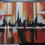 LM070 Lukisan City Abstrak 2
